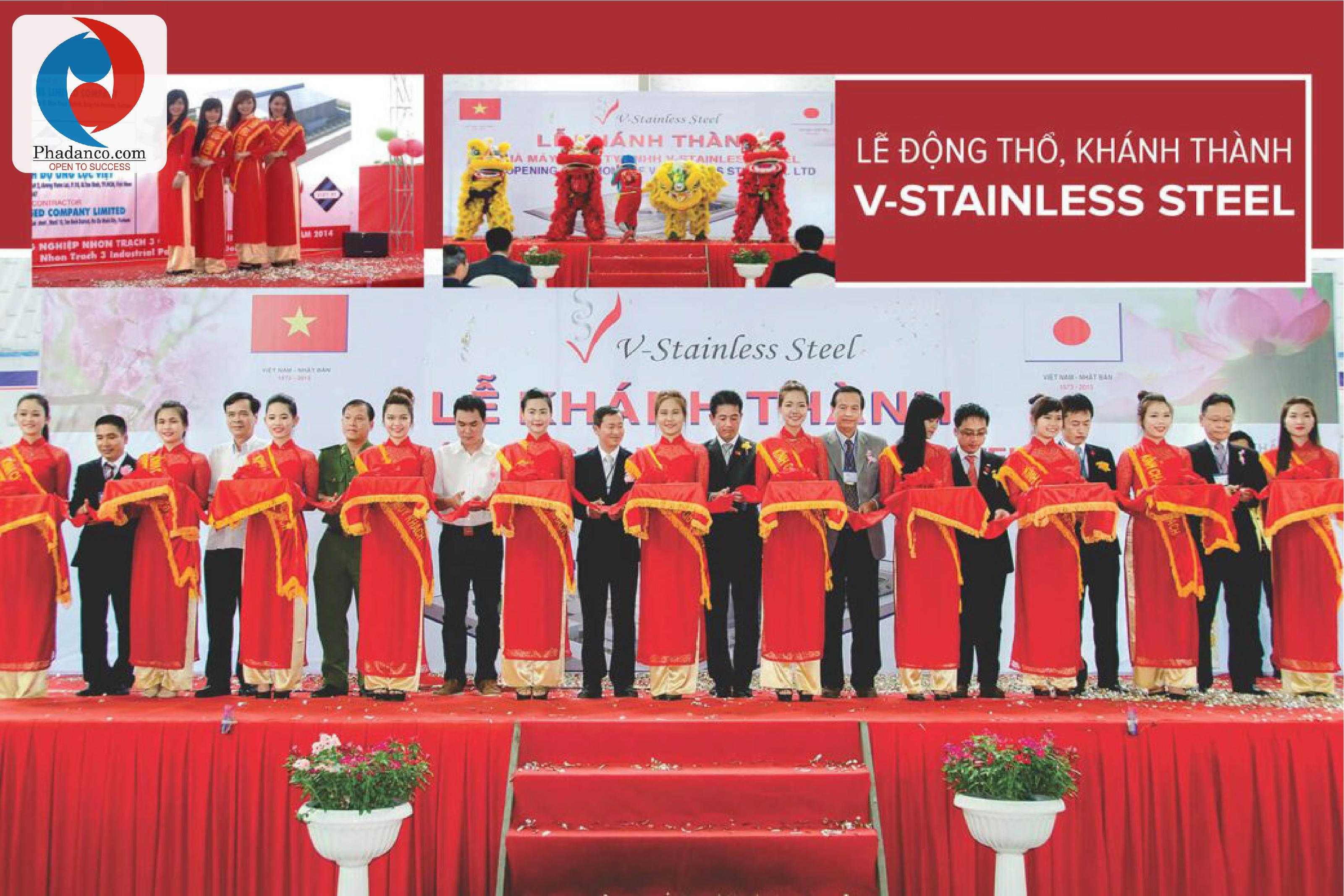 Công ty Truyền thông Phan Đăng tổ chức sự kiện cho Công ty V-Stainless Steel