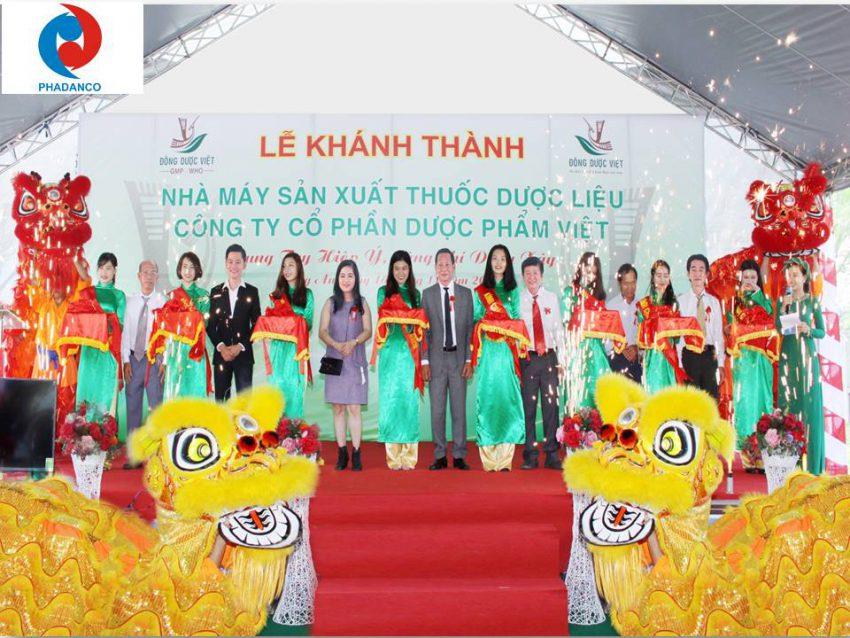 Lễ Khánh Thành nhà máy Đông Dược Việt do Truyền thông Phan Đăng tổ chức
