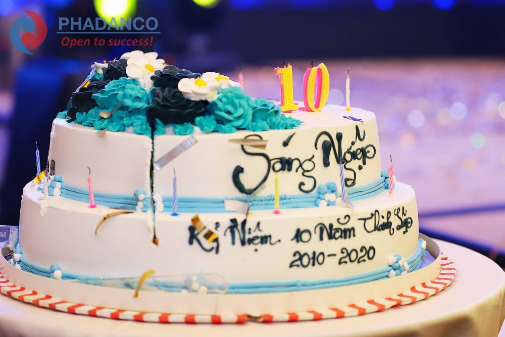 Lễ kỷ niệm thành lập công ty 10 năm thành lập cho công ty Sáng Nghiệp