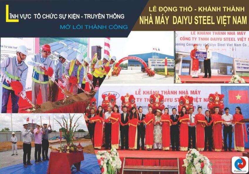 Lễ Động Thổ nhà máy Daiyu Steel do Truyền thông Phan Đăng tổ chức