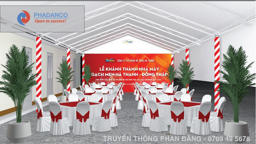 Lễ khánh thành nhà máy gạch men Hà Thanh Đồng Tháp