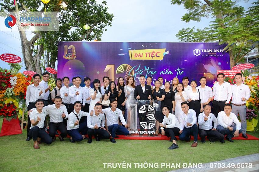 Lễ kỷ niệm 13 năm thành lập công ty trần anh - Phan đăng tổ chức